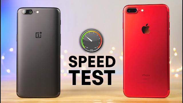 Đọ tốc độ của OnePlus 5 và iPhone 7 Plus