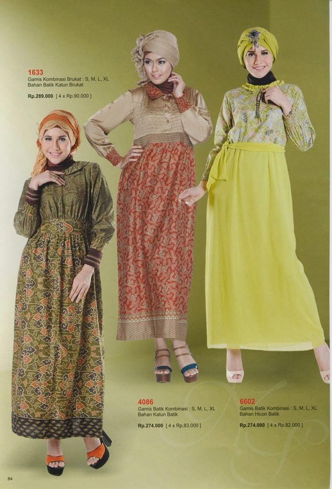 Model Gamis Toyusin Kombinasi Brukat Bahan Batik Katun