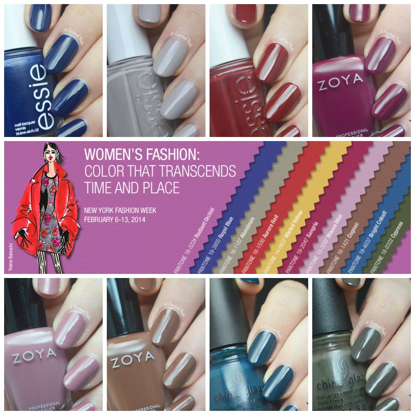 a painted nail fall winter color trends wrap up and 2015 color of