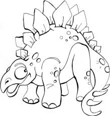 Printable Baby Stegosaurus Coloring Pages