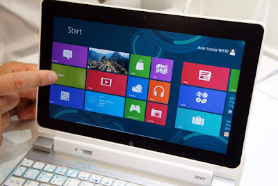 spesifikasi tablet acer windows 8, harga tablet windows 8 touchscreen, tablet intel core i5 terbaru