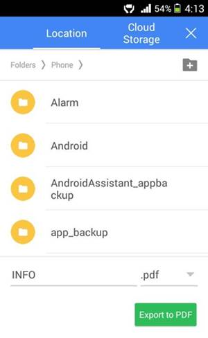 doc to pdf android