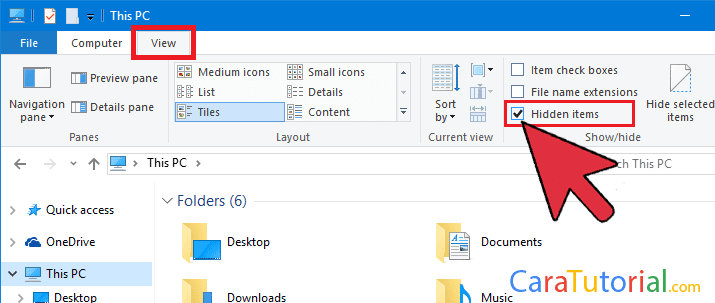 Menampilkan Folder yang di Hidden Windows