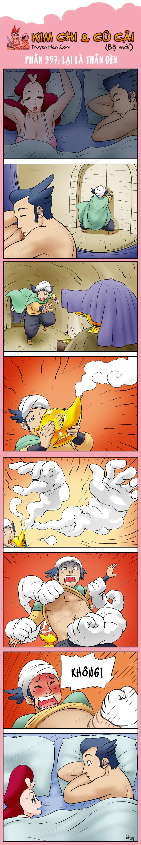 Kim Chi & Củ Cải (bộ mới) phần 357: Lại là thần đèn (2)