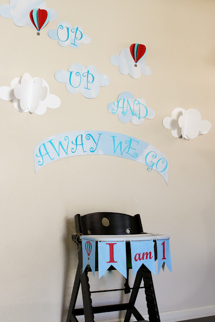 DreamARK Events Blog First birthday party Up up and away theme