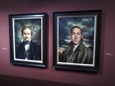 Portraits of Edgar Allen Poe and H.P. Lovecraft, by Michael Deas