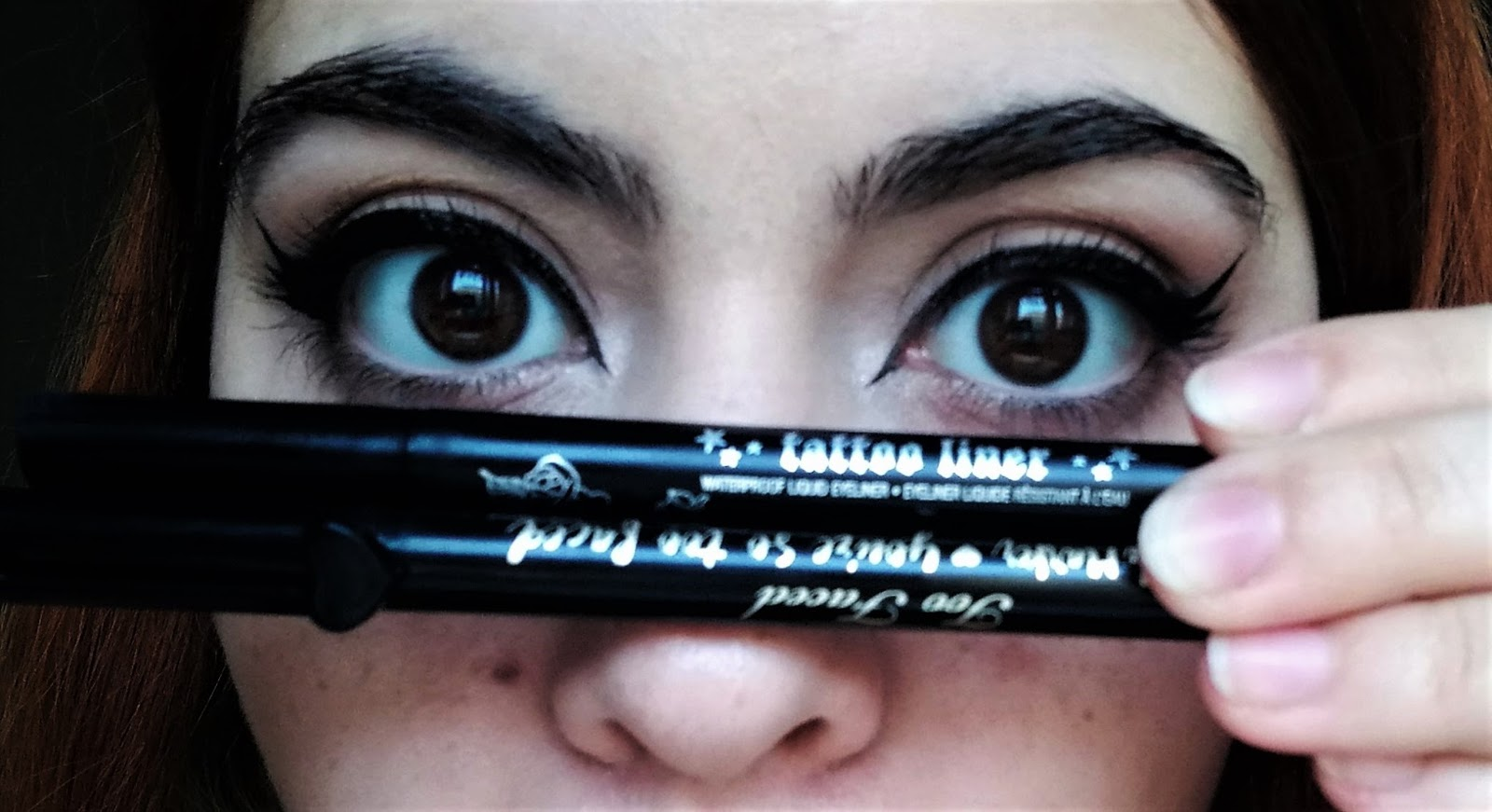 Nixe S Kat Von D Tattoo Liner Vs Too Faced Sketch Marker Liquid