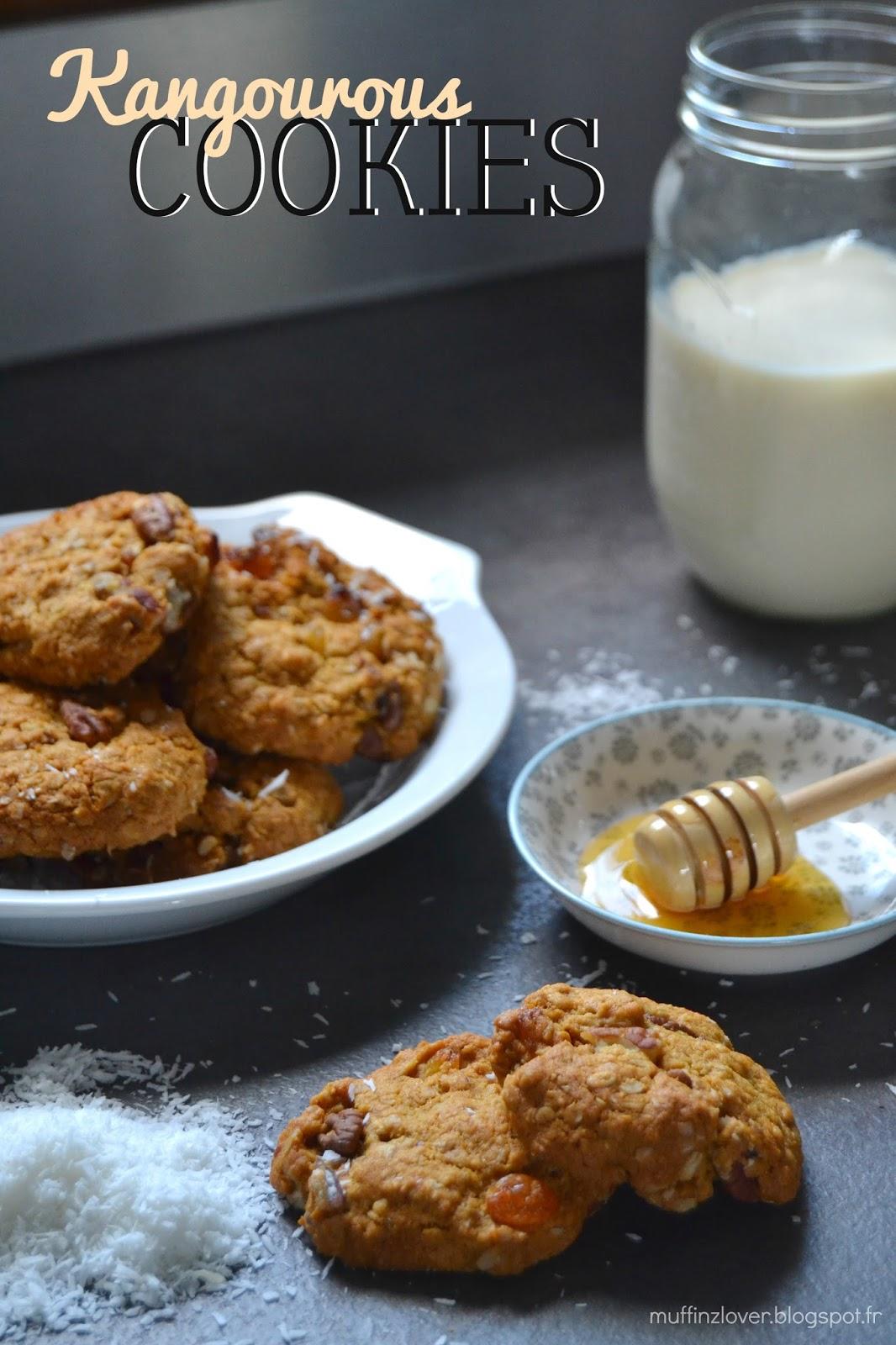 Recette Cookies Kangourous - muffinzlover.blogspot.fr