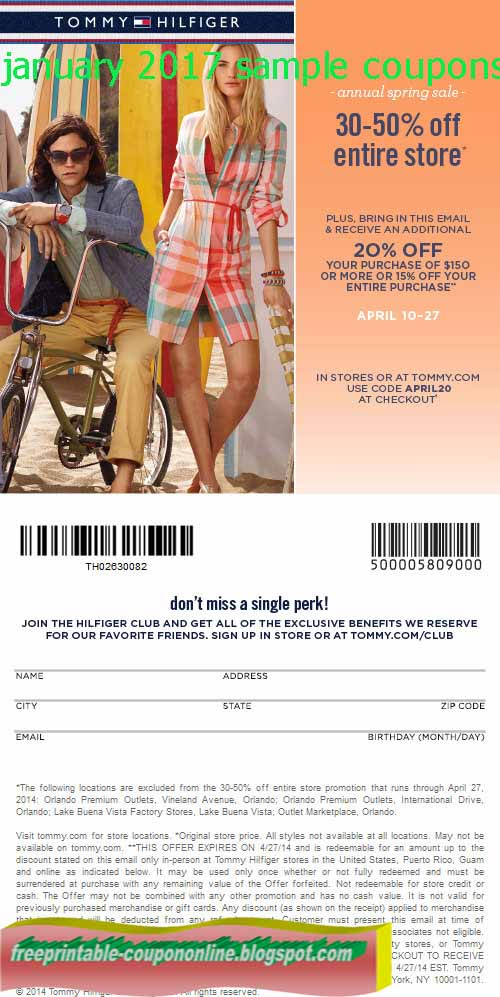 Tommy hilfiger canada printable coupon 2018