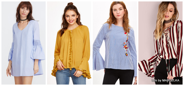 www.shein.com/Multicolor-Striped-Lace-Up-Bell-Sleeve-Blouse-p-332872-cat-1733.html?utm_source=www.lifebymarcelka.pl&utm_medium=blogger&url_from=lifebymarcelka