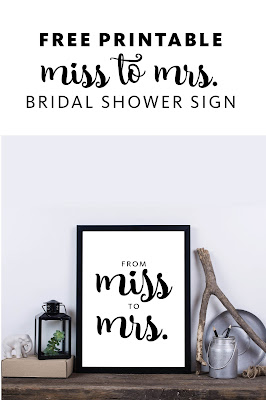 From Miss to Mrs. Bridal Shower Free Printable