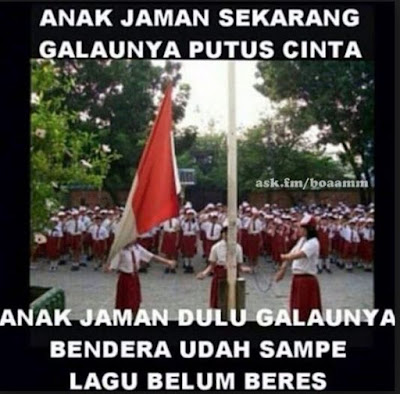 10 Meme Upacara Bendera di Sekolah Ini Kocak Banget, Pakai Topinya Dulu Bro!