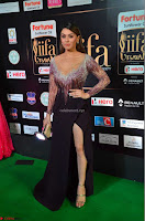 Hansika Motwani in Glittering Deep Neck Transparent Leg Split Purple Gown at IIFA Utsavam Awards 25.JPG