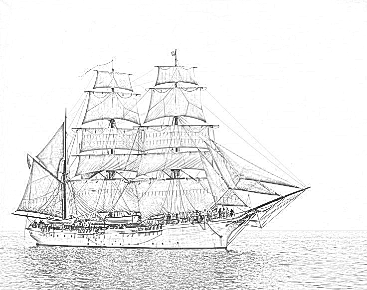 british sailing warship coloring pages - photo#5