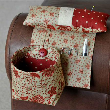 Pincushion with Thread Catcher Bag