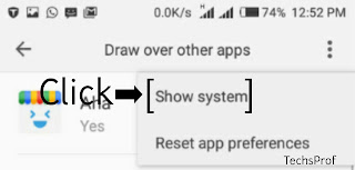 Select 'Show System'