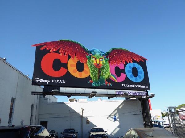 Coco movie extension billboard