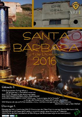 Cartel de Santa Bárbara 2016 en Vallejo de Orbó