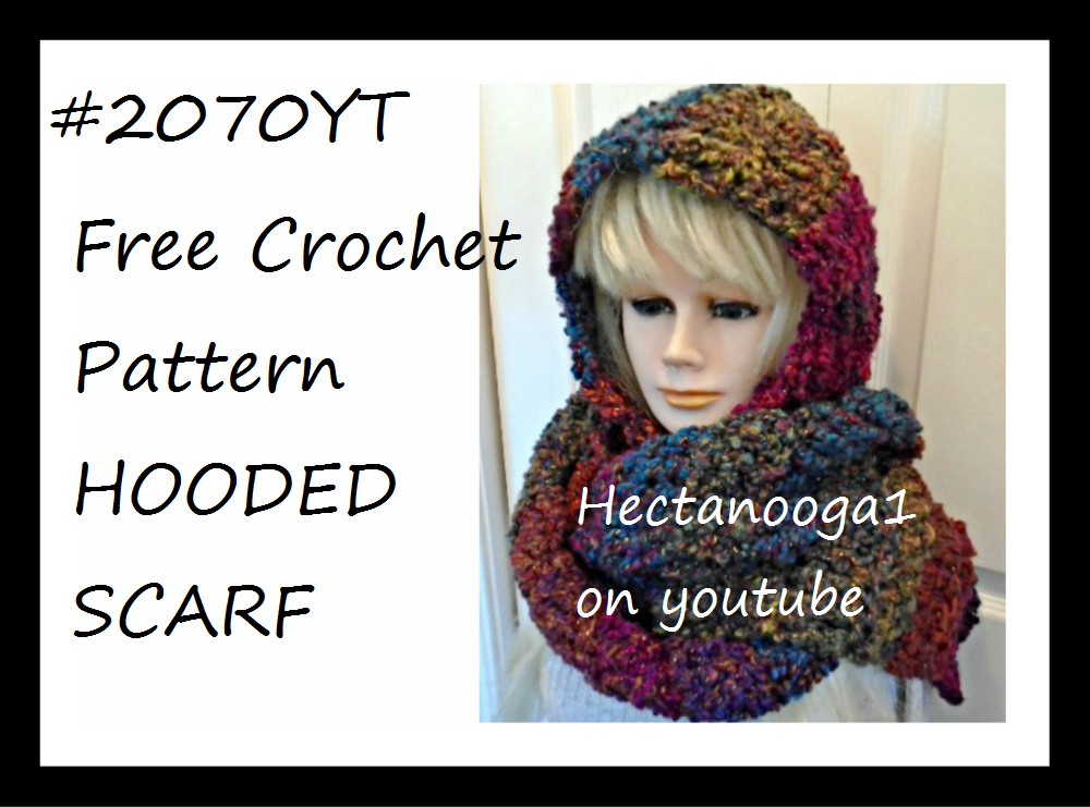 Hectanooga Patterns Free Crochet Pattern 2070 Hooded Scarf