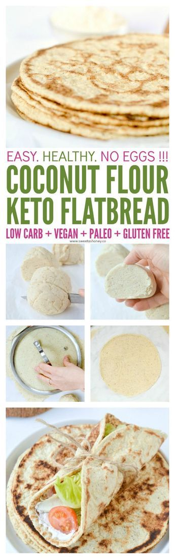 COCONUT FLOUR FLATBREAD – NO EGGS !