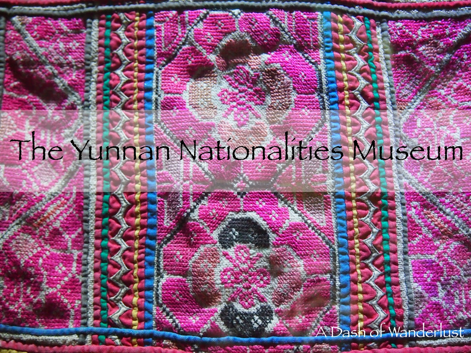 Miao embroidery from the Yunnan Nationalities Museum in Kunming, China