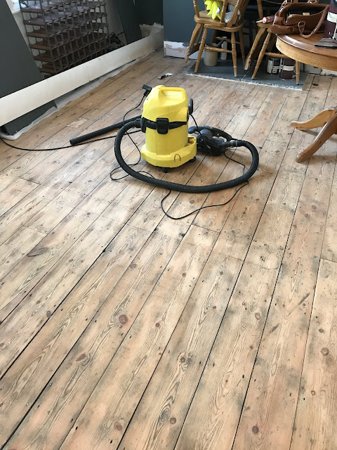 sanding floorboards but keeping character