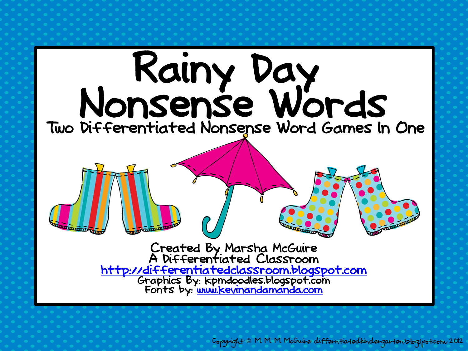 Two Differentiated Nonsense Word Games In One For Free