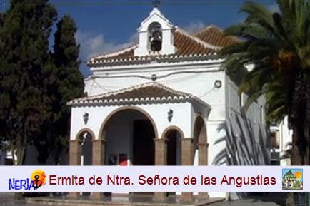 La ermita de Las Angustias, fué levantada e el siglo XVII en estilo barroco