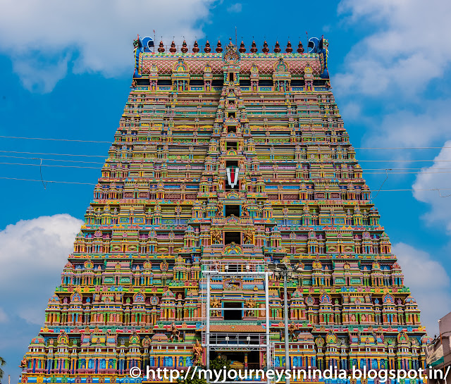 Trichy Srirangam Temple Tower