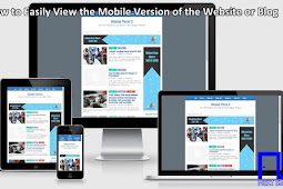 How to Easily View the Mobile Version of the Website or Blog