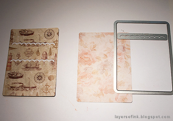 Layers of ink - Nautical Mini Album Tutorial by Anna-Karin Evaldsson with Eileen Hull Sizzix Credit Card Sleeve dies