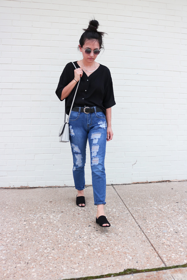 How to style, ripped jeans and mules for spring
