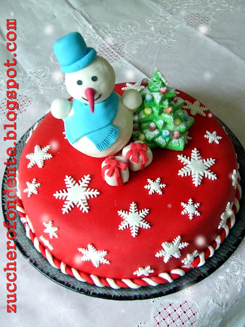 Zuccherofondente decorazioni natalizie in pasta di zucchero - Decorazioni torte natalizie ...