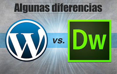 Las diferencias entre Dreamweaver y Wordpress