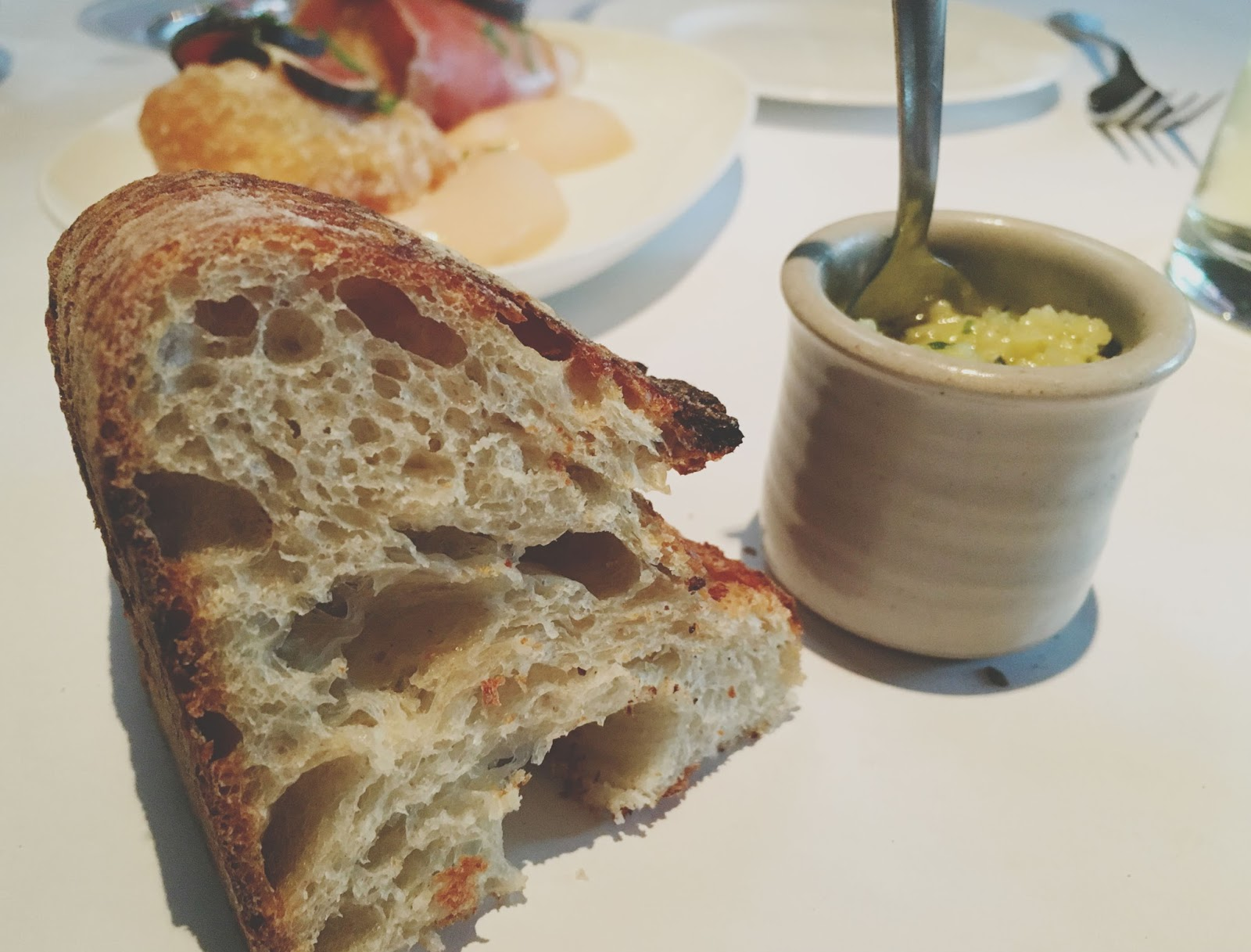 bread at Bottega - a restaurant in Yountville, California