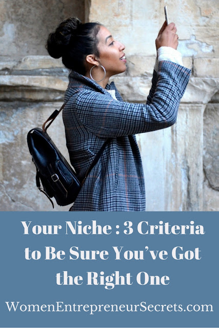 your niche: 3 criteria to be sure you've got the right one