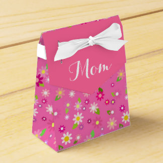 Favor Boxes for Mother's Day - Mom Gift Bag, Favor Bag for Mother's Day, Pink Bag Favor Box Floral