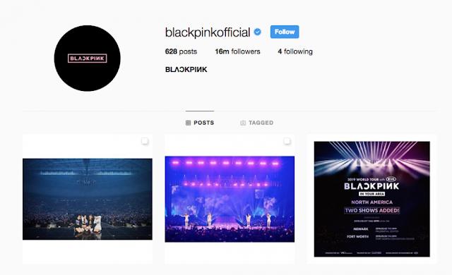 BLACKPINK Menjadi Group Dengan Followers Kedua Terbanyak di Instagram