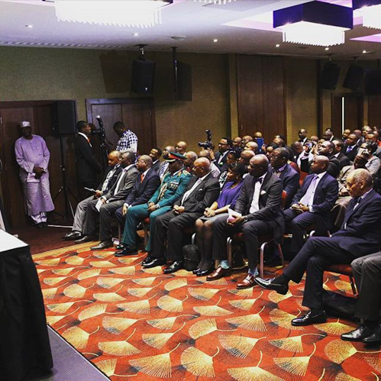 president buhari meets Nigerian community in london