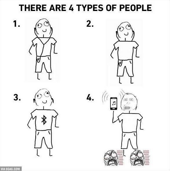 4 types of people