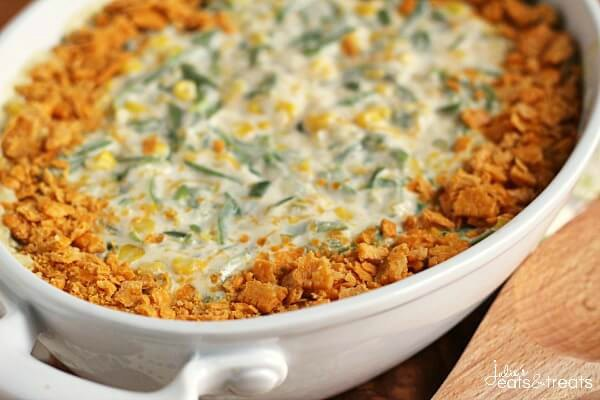 Green Bean Corn Casserole from Julie's Eats & Treats