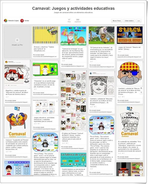 """Conjunto de juegos y actividades sobre """"El Carnaval"""""""