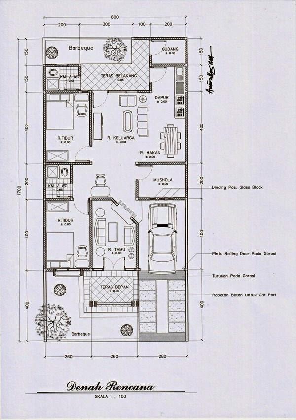 Image Result For Denah Rumah Minimalis