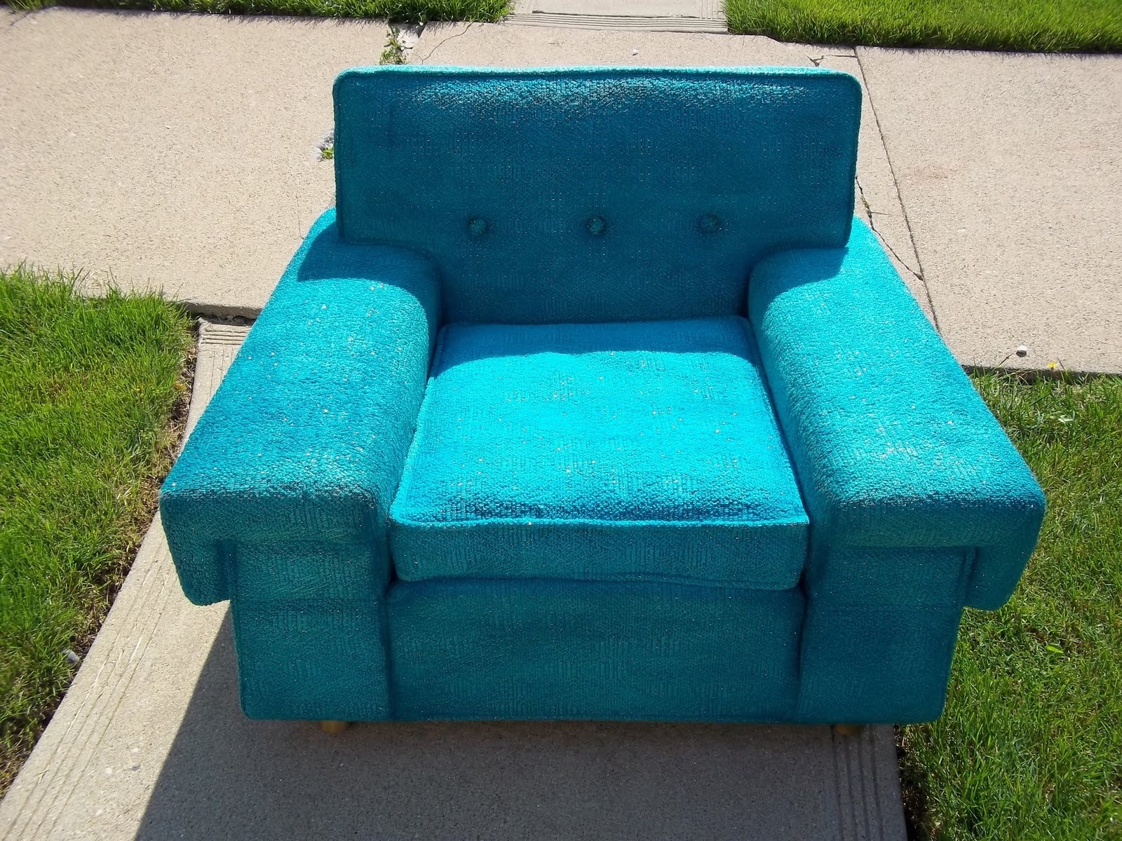 turquoise lounge chair wedding covers hire northern ireland funky mid century kroehler sold