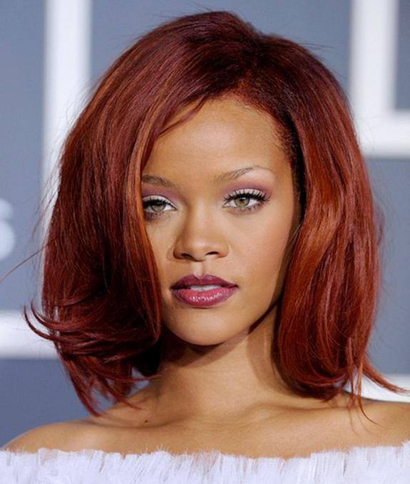 Burgundy Henna Hair Dye: Rihanna