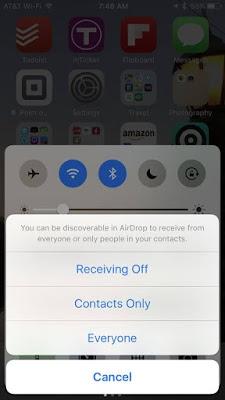 Matikan AirDrop iPhone
