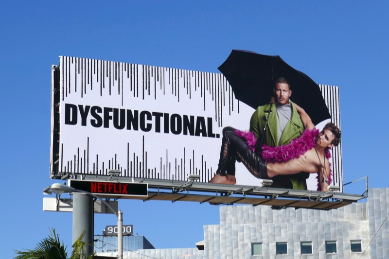 Umbrella Academy dysfunctional extension billboard