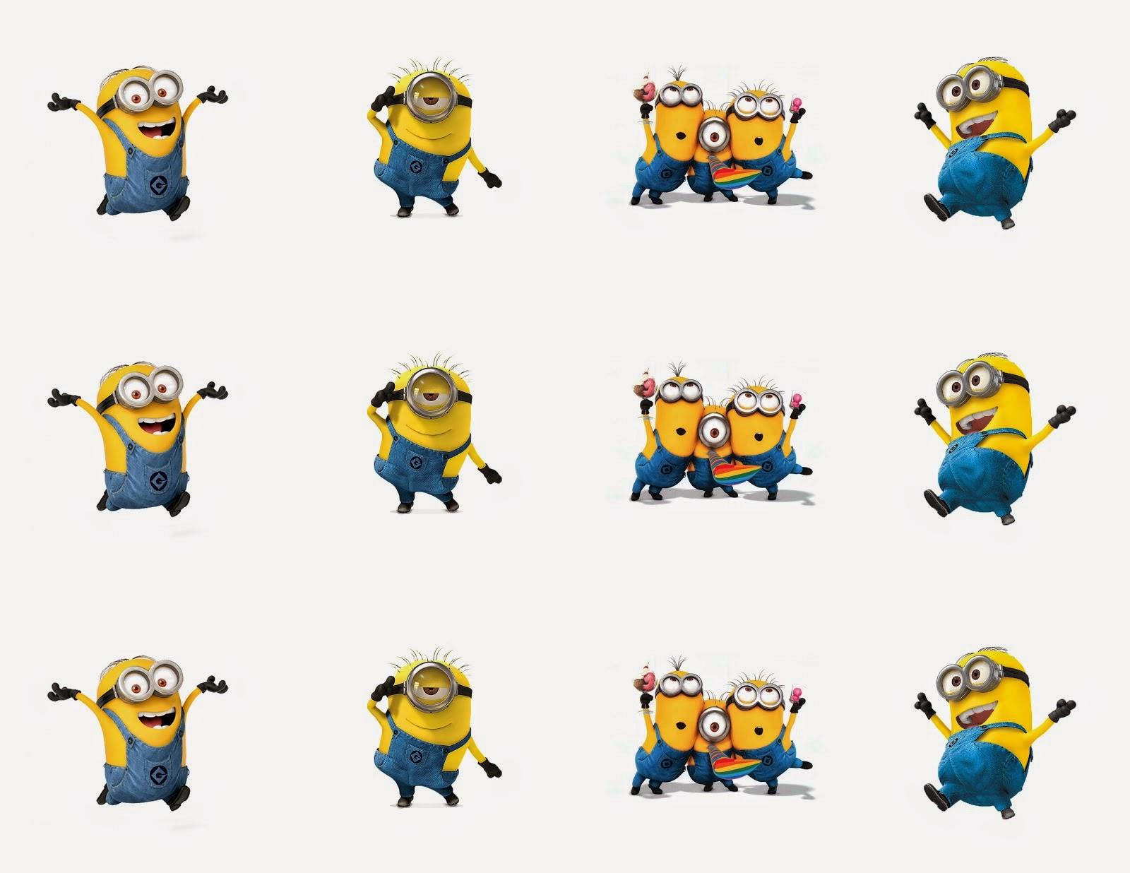 56 Dibujos De Minions Para Descargar Gratis Imprimir Y: Minions: Banderines, Toppers, Etiquetas Para Imprimir