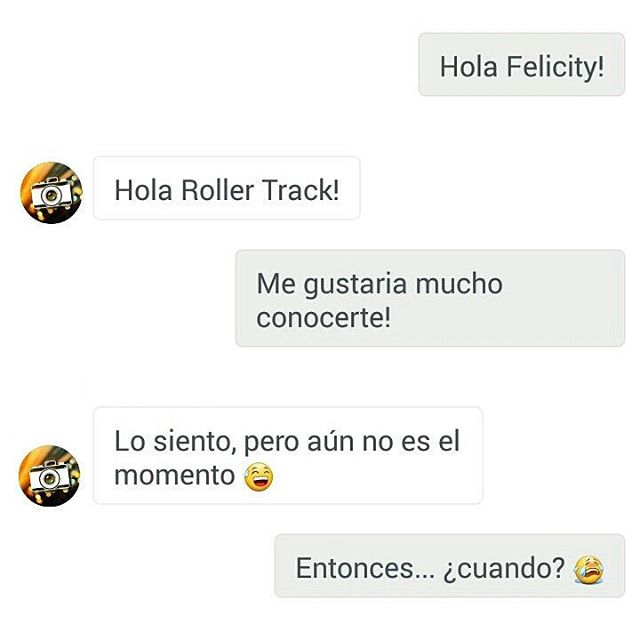 Frases Da Felicity For Now Roller Track 1 Ano De Blog