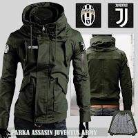Jual Jaket Bola Parka Assasin Juventus Logo Lepas Pasang